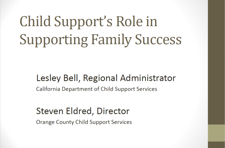 Child Support's Role